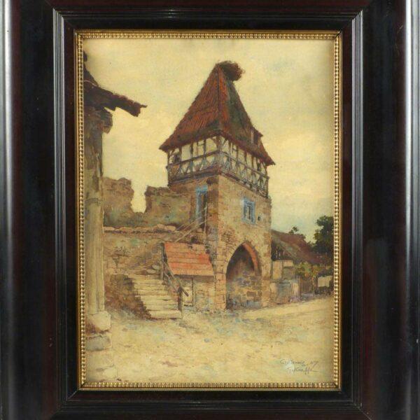 Vue de Châtenois par Gustave Krafft